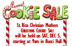 Dec 5 - St. Rita Cookie Sale