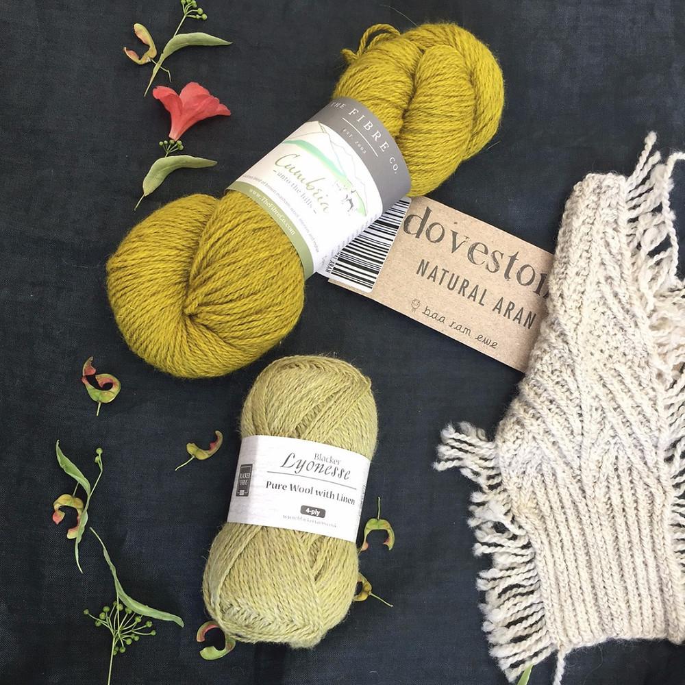 British yarns: The Fibre Co. Cumbria, Dovestone Natural Aran & Blacker Lyonesse