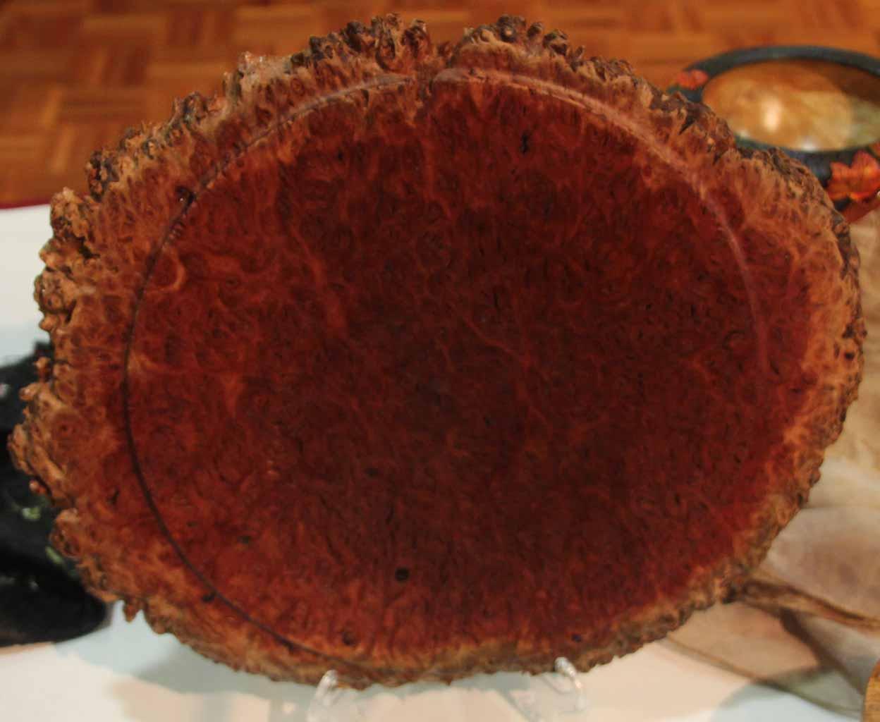 Rick Hillier Red Gum Burl platter, Danish oil