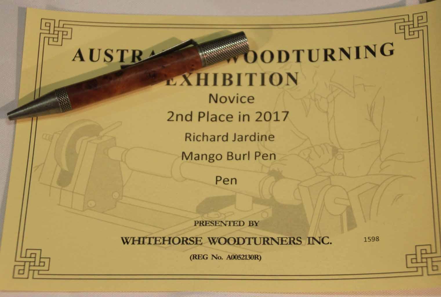 Richard Jardine Mango Burl Pen