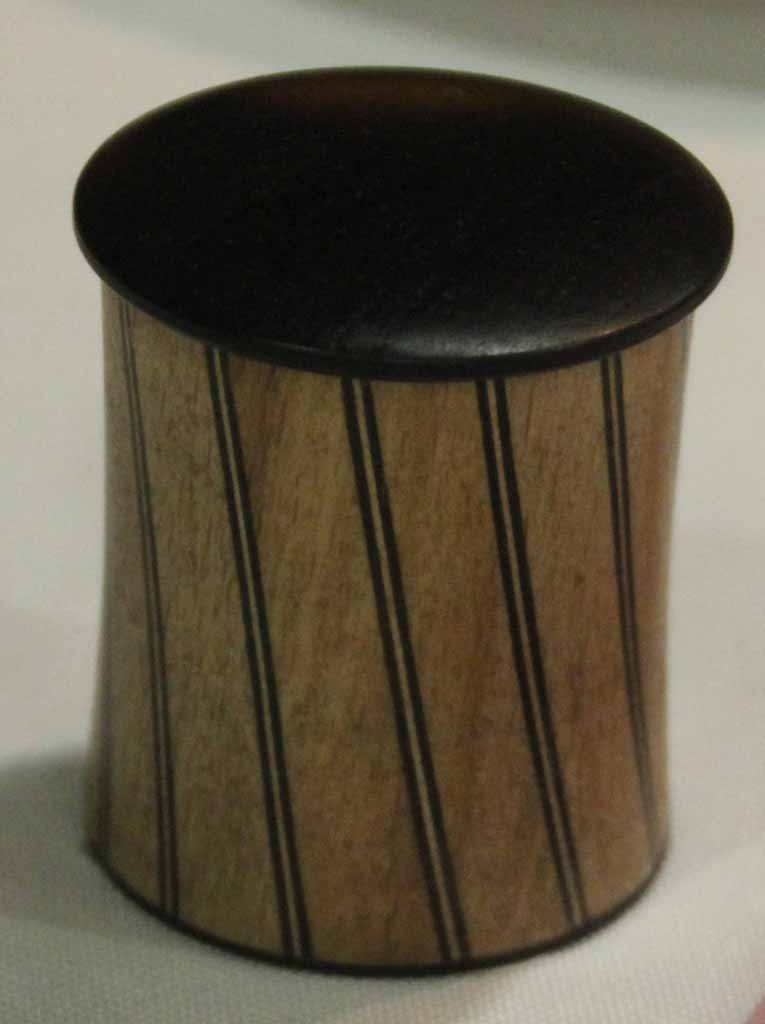 Cliff Walsh First place minature,Spiral box EbonyBlackwood Acrylic finish