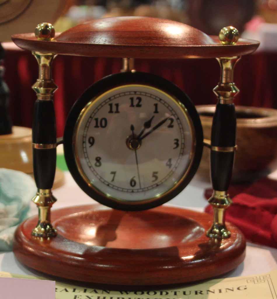 Cliff Walsh 1st place Clock Mantle clockEbonyPadauk, Acrlic finish