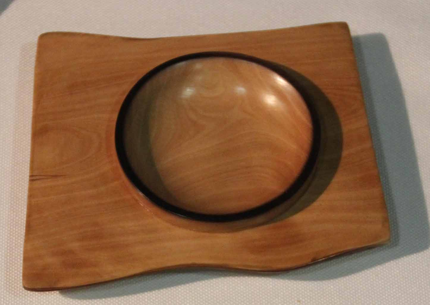 Geoff Easton Small Shallow dish Photina Danish oil