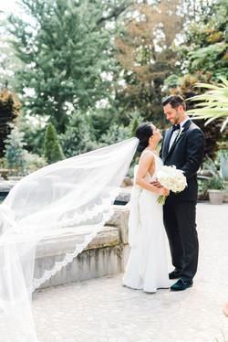 duke gardens wedding raleigh wedding