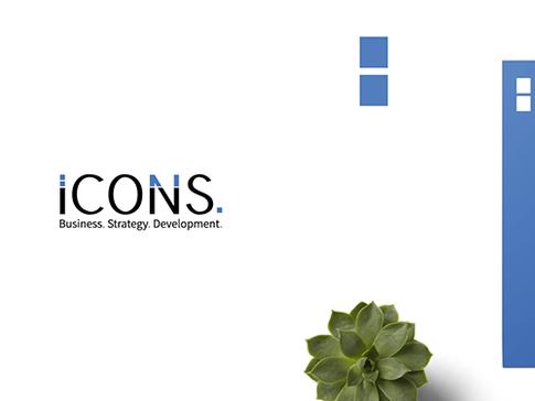 לוגו ומיתוג חברת אייקונס