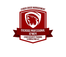 Certification Badge Cyber Crisis Management Exercise Professional C2MEP