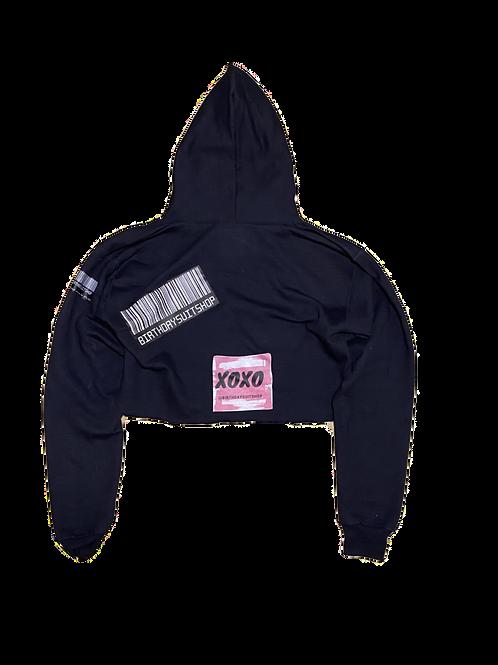 XOXO Cropped Hoodie
