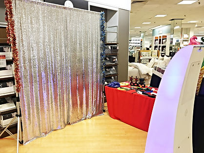 Open air photo booth at Macy's