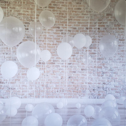 Rustic White Balloons