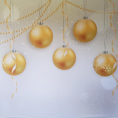 Gold Holiday Ornaments