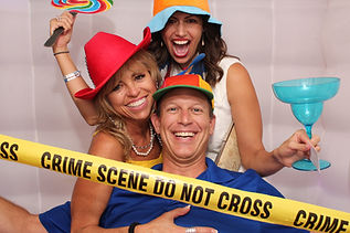Fun party cube photo booth picture with props