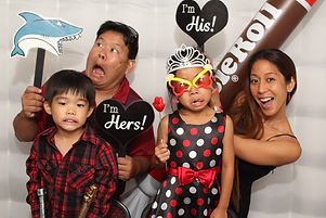 Shark attack in the photo booth while eating a Tootsie Roll