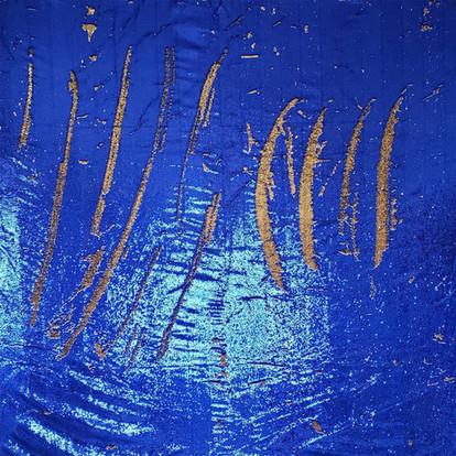 Mermaid Sequin Blue & Gold