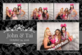 Party cube photo booth template black tootsie roll