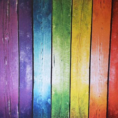 Rainbow Wood Planks