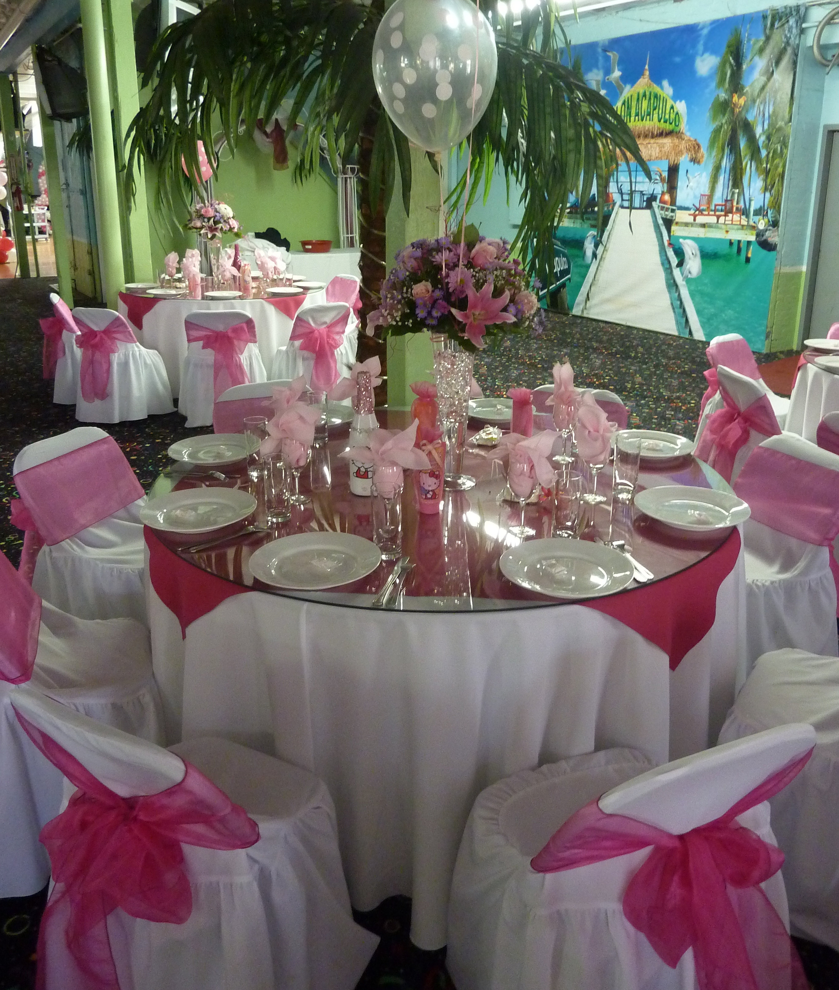 Salonacapulco Banquet Hall Table Set Up