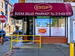 Buena Salud Pharmacy Window Signage