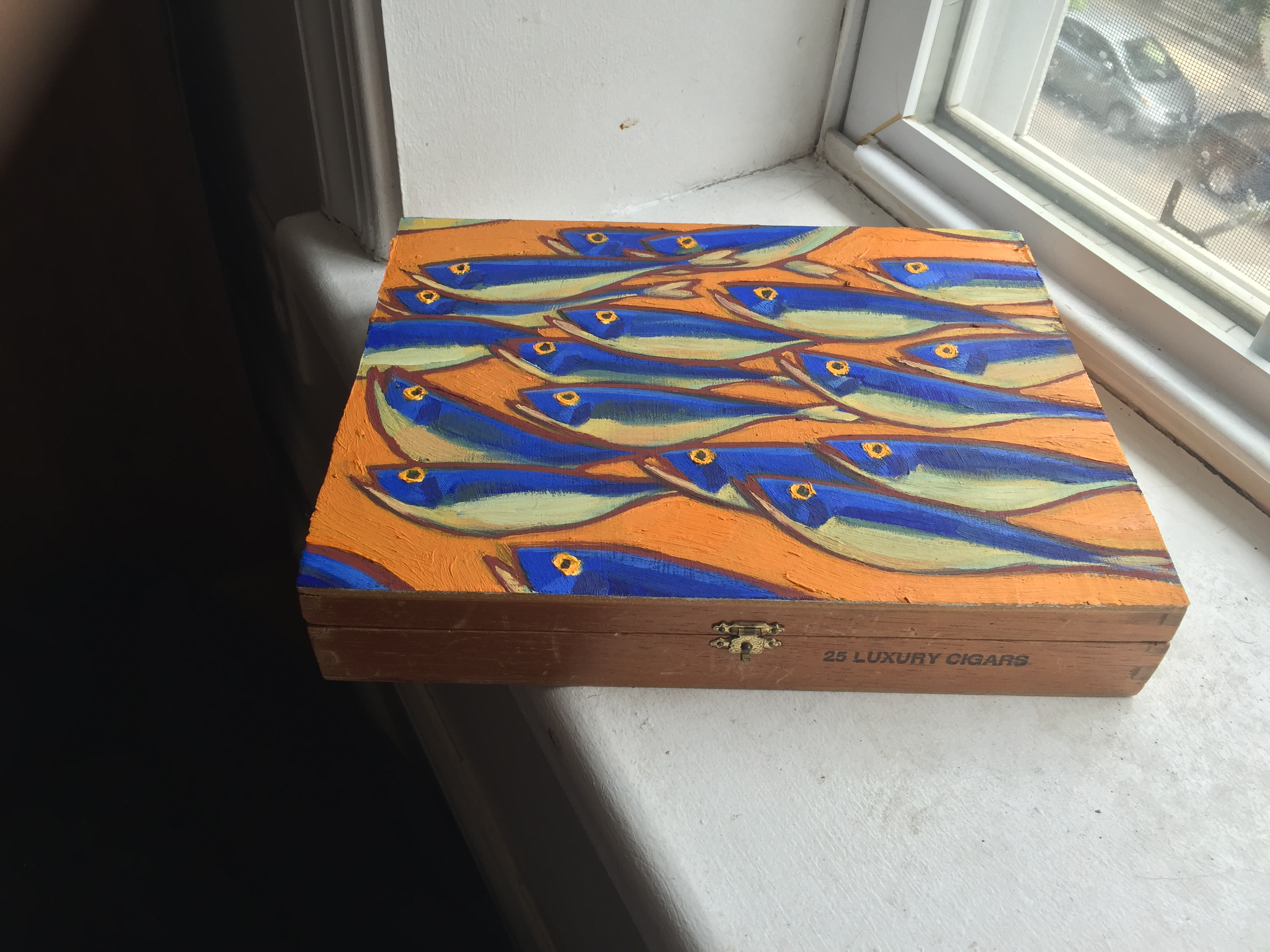 Orange Fish Cigar Box