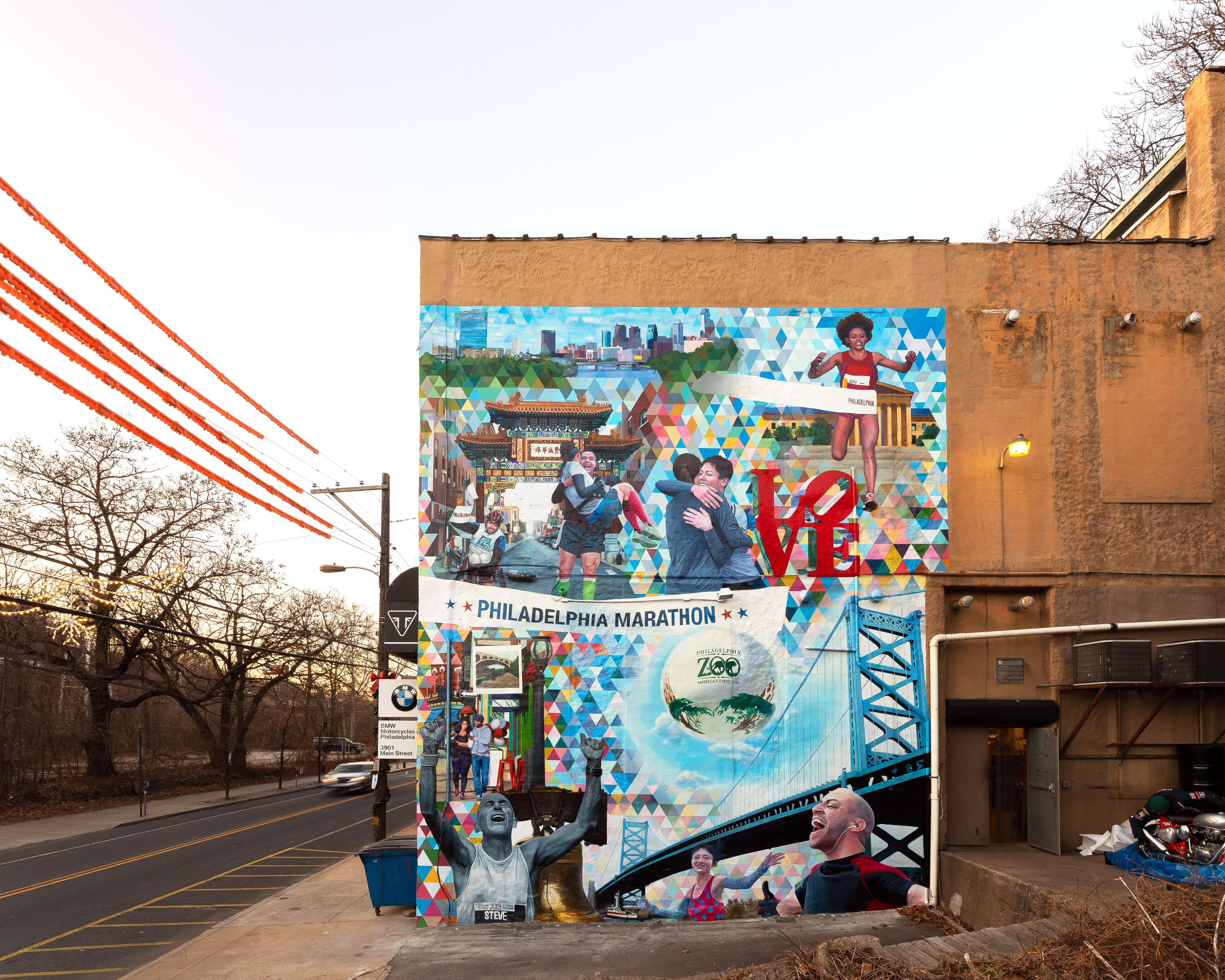 25th Anniversary Philadelphia Marathon Mural