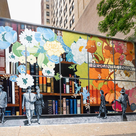 Mercantile Library Mural