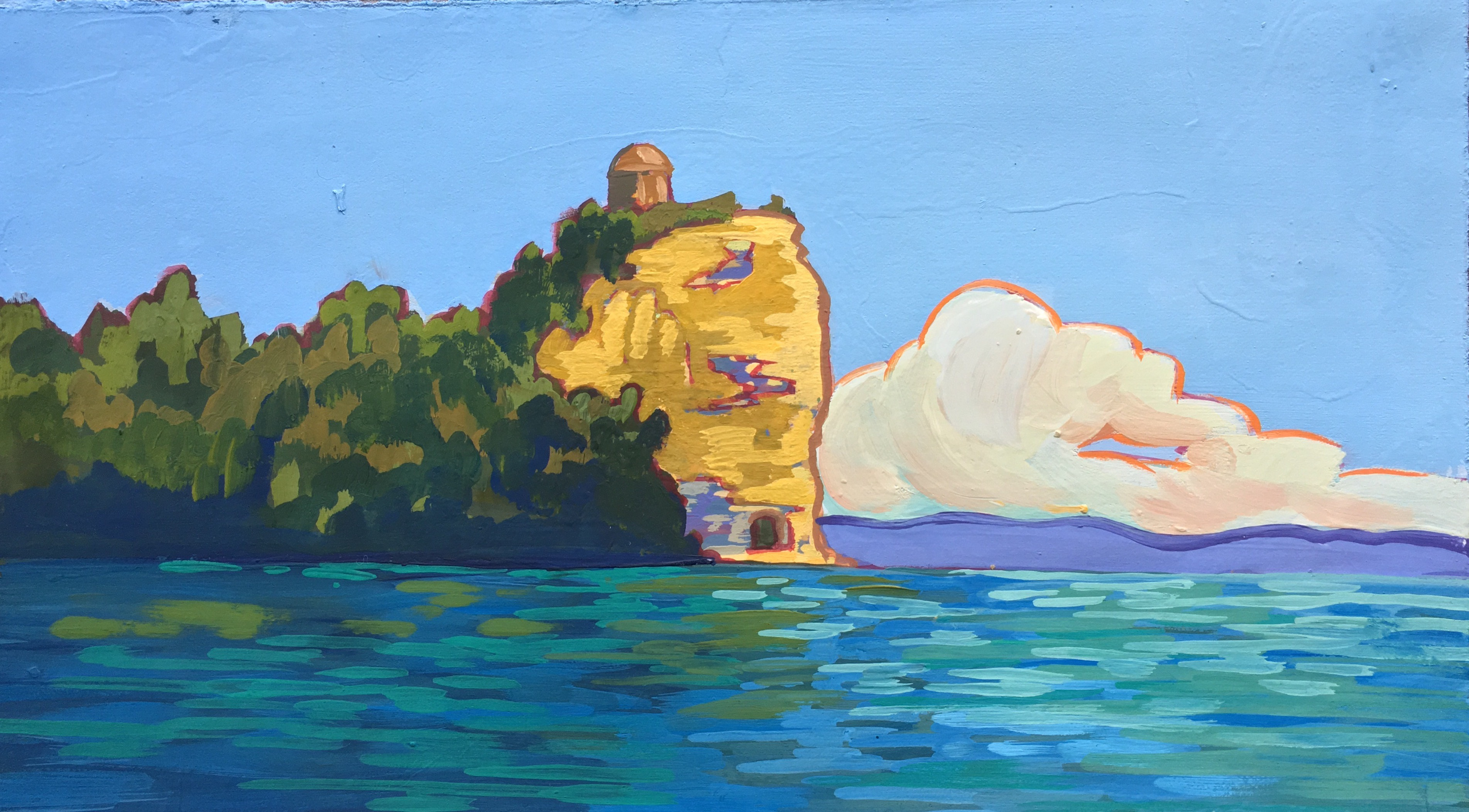Island on Lago Bolsena, Reverse