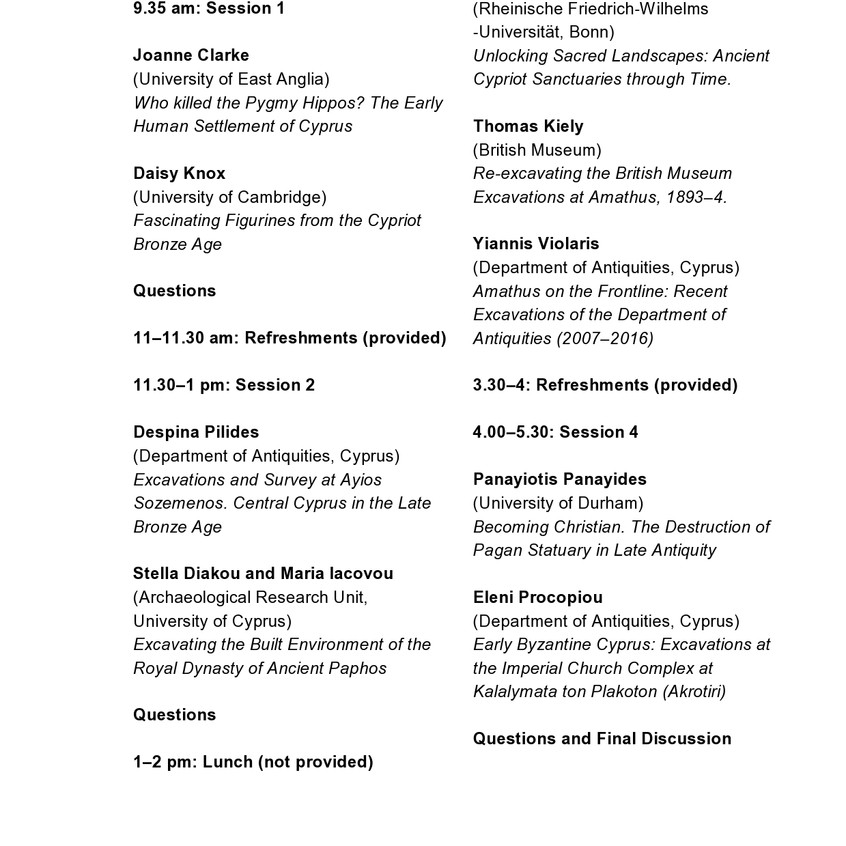 Cyprus study day flyer and programme March 2016-page0002