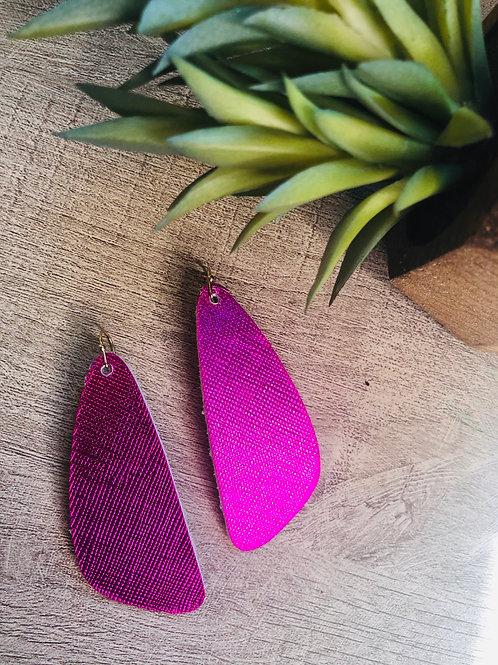Saffiano pink dangles