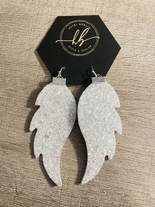 Gorgeous leather glitter angel wings
