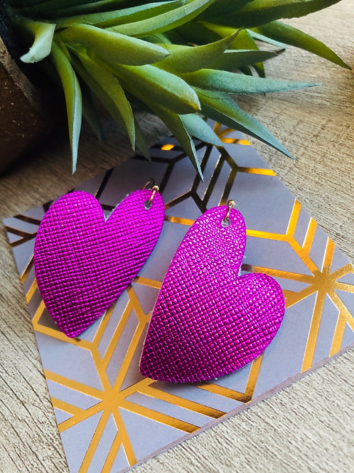 Saffiano pink hearts