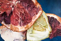 "Grapefruit, 20""x30"", Oil on Canvas"