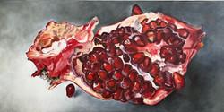 "Pomegranate, 12""x24"", Oil on Canvas"