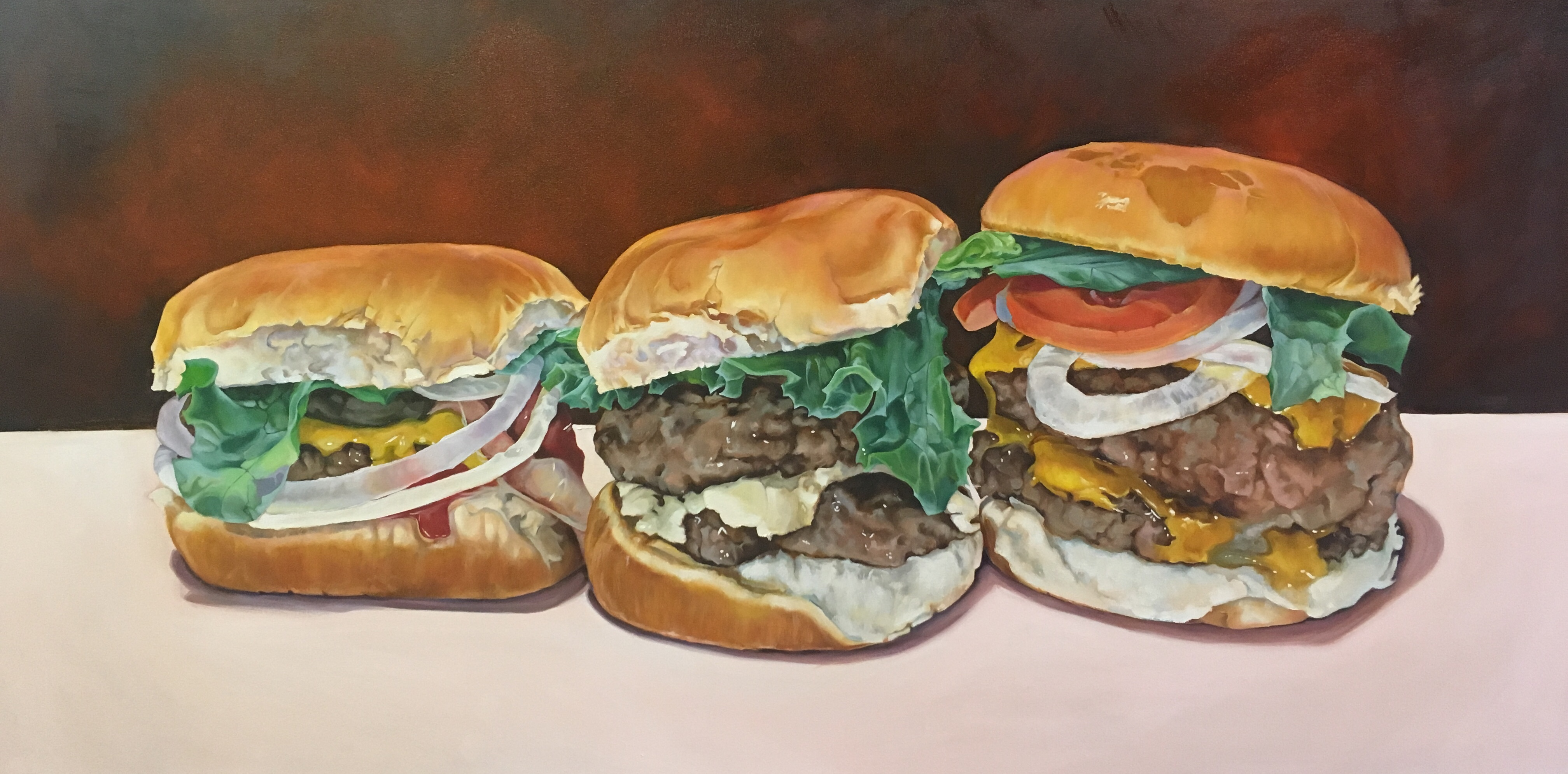 "Dinner with the Boys, 30""x60"""