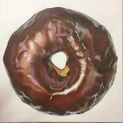 "Chocolate, 36""x36"", Oil on Canvas"