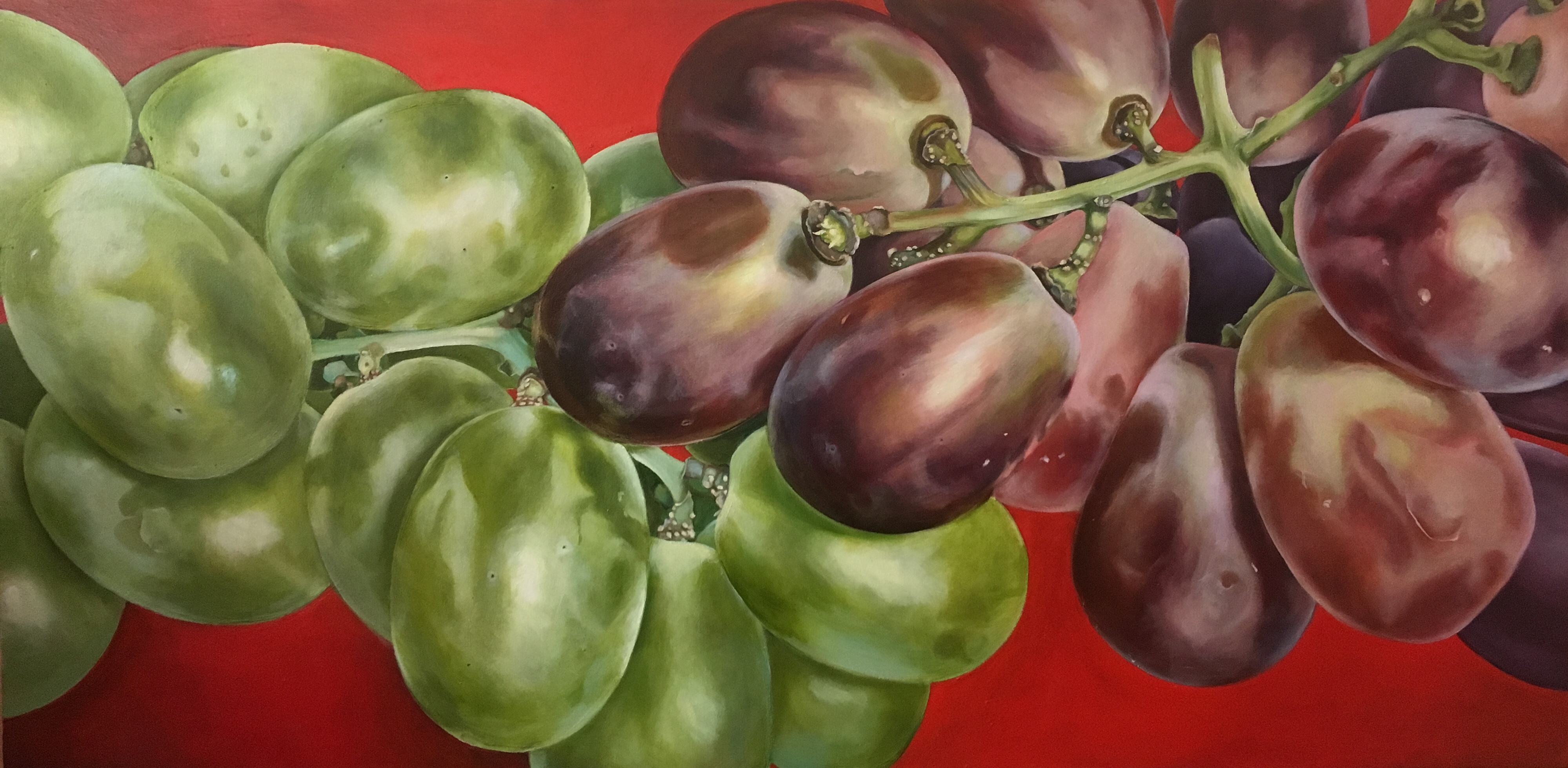"Communion, 30""x60"", Oil on Canvas"