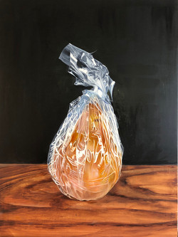 """Wrapped, 24""""x18"""", Oil on Canvas"""