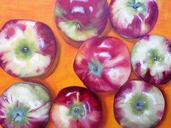 "Apples, 30""x24"", Oil on Canvas"