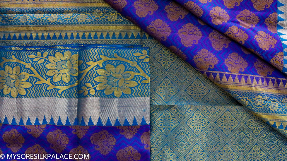 MSP Designer Blue Silk Saree