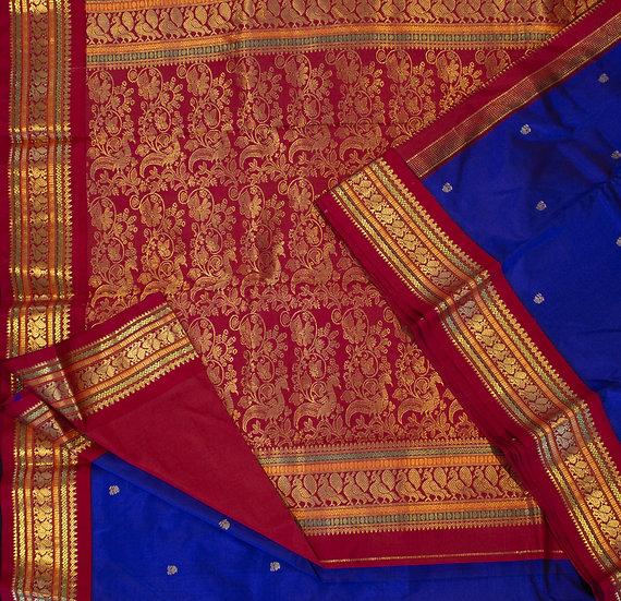 MSP Navy Blue Pure Silk Saree