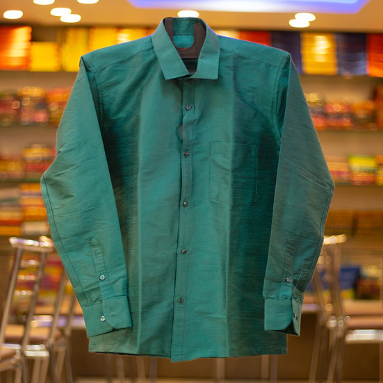 MSP Raw Silk Shirt (Full Sleeves)