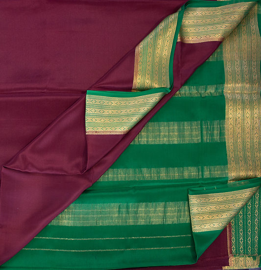 MSP Kanchi Marron Pure Mysore Silk Saree