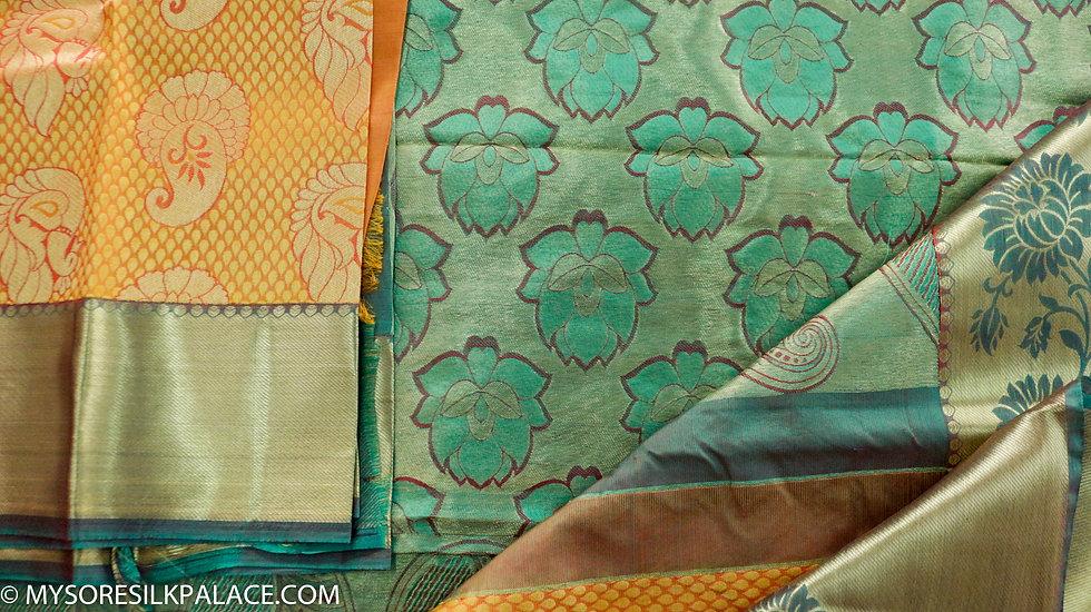 MSP Yellow Designer Pure Silk Saree