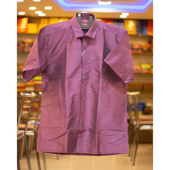 MSP Raw Silk Shirt (Half Sleeves)