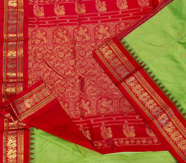 MSP Neon Green Pure Silk Saree