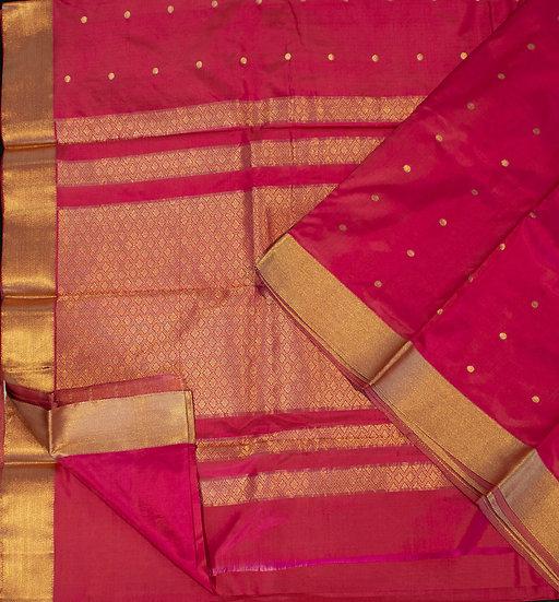 MSP Grand Royal Pink Pure Silk Saree