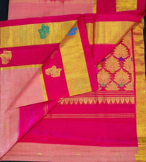 MSP Pink Pure Cotton Saree