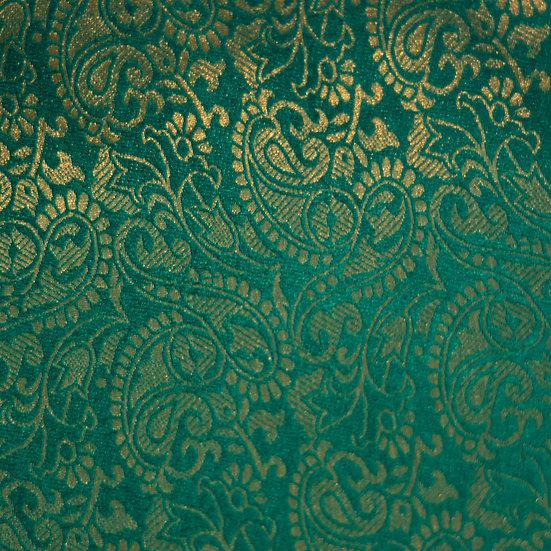 MSP Green Broket Silk Fabric