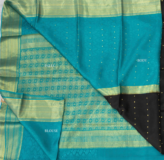 Rama Body with Black center piece with contrasting rich pallu