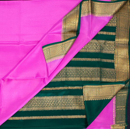 MSP Light Pink Pure Mysore Silk Saree