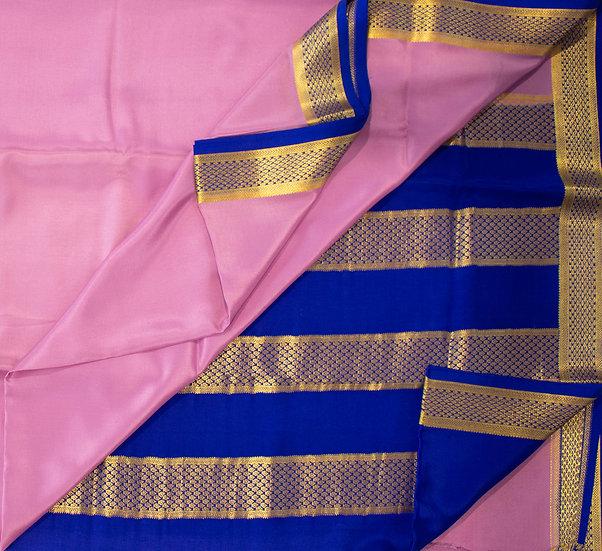 MSP Skin Pink Pure Mysore Silk Saree/ Heavy Pallu
