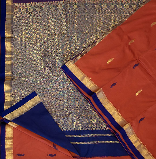 MSP Dark Mustard Silk Saree